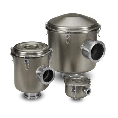 ISO Flange Vacuum Filters w/Electroless Nickel Finish & Stainless Steel Flanges