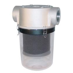 ST Series, see-through inlet vacuum filter for easy visual maintenance checks
